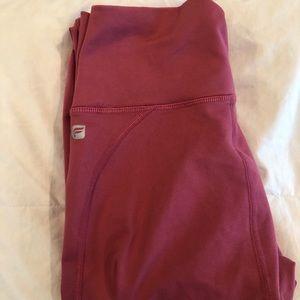 Fabletics full length pink leggings